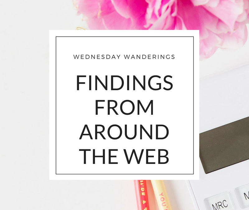 Wednesday Wanderings: Findings From Around the Web