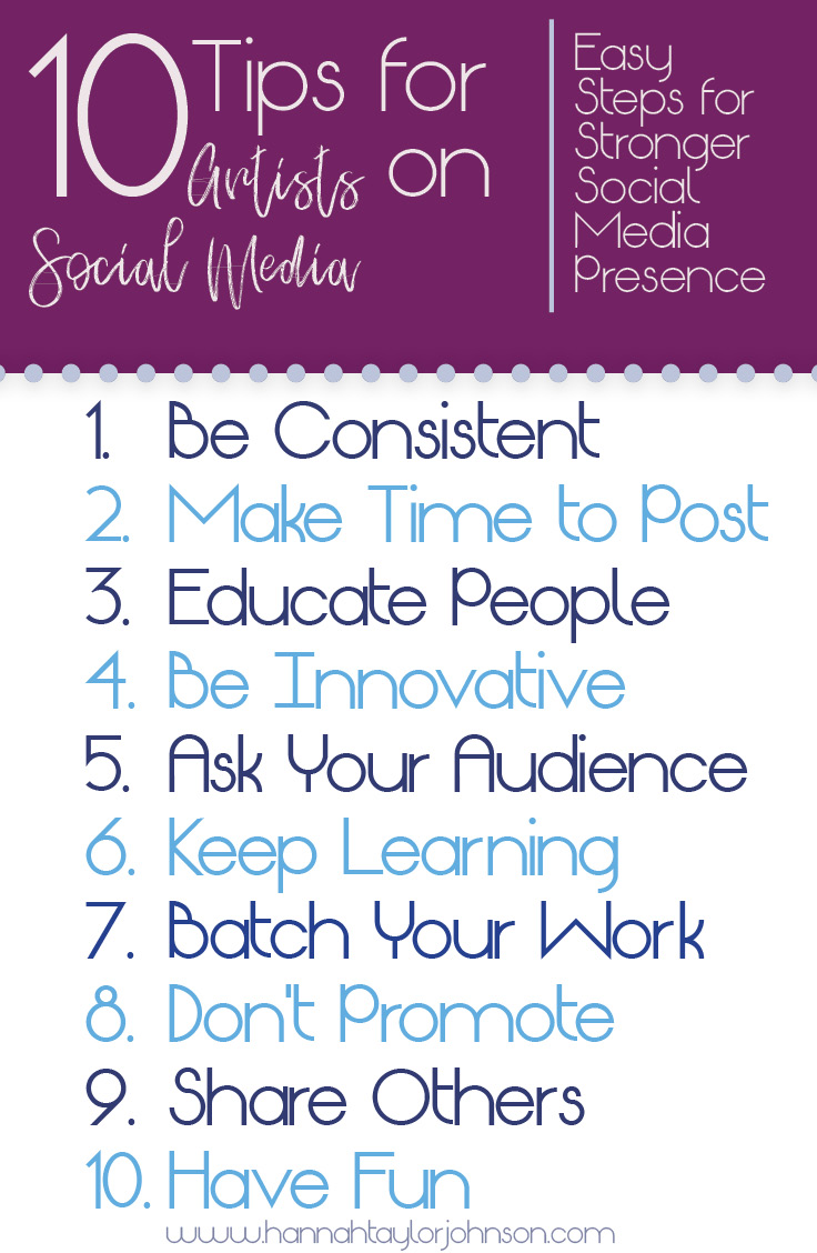 10 tips for artists on social media