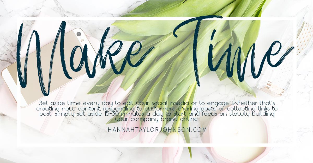 make time for planning social media