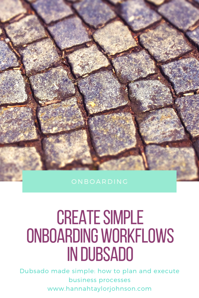"repetitive brick pattern with the text ""onboarding: Create simple onboarding workflows in dubsado repetitive business processes on hannahtaylorjohnsoncom"""